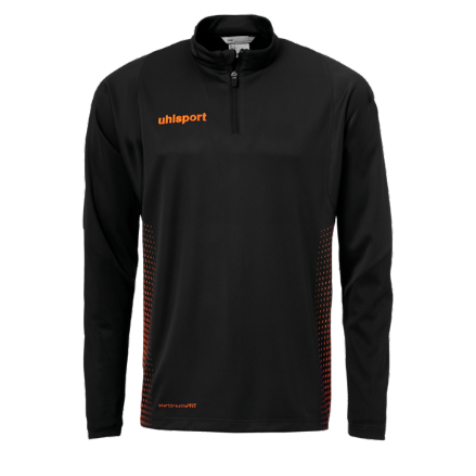 Score 1/4 Zip Top Black / Fluo Orange